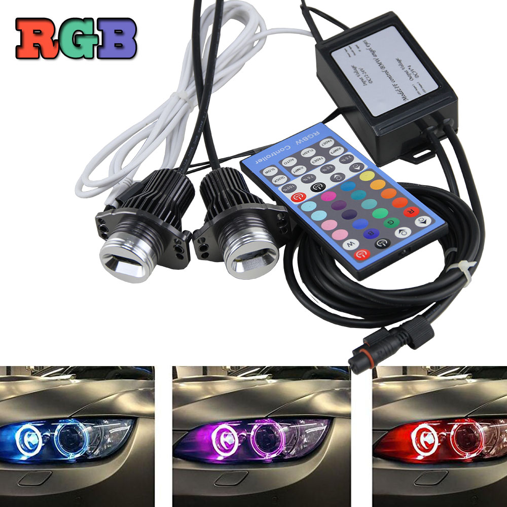 Online eye color changer - 2x Cree Chips Led Angel Eye 12w Rgbw Color Change Halo Ring Led Light Bulbs For