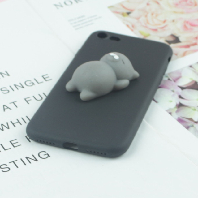 3D Squishy Toys Cute Cat Case For iphone