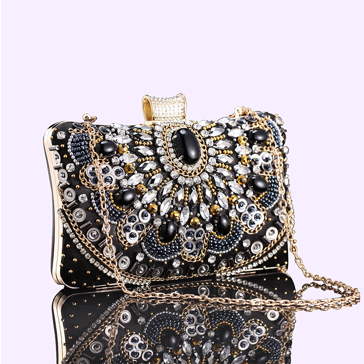 Bolsos Mujer Rushed Single 2018 Autumn New Female Bag, Luxurious Crystal Diamond, Square Hand Celebrity Dinner, Shoulder Grab.
