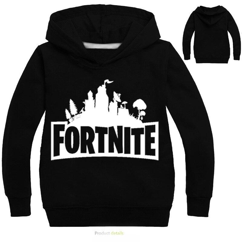 Fortnite Hoodies Swearshirts Casual Long Full Sleeve Tshirt Outwear Streetwear Pullover 3-14T Boys Girls Clothing