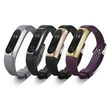 Caso Capa protetora Titular e Silicone Wrist Band watch Strap Banda substituição para Xiaomi Mi 2 Smartband Rastreador De Fitness