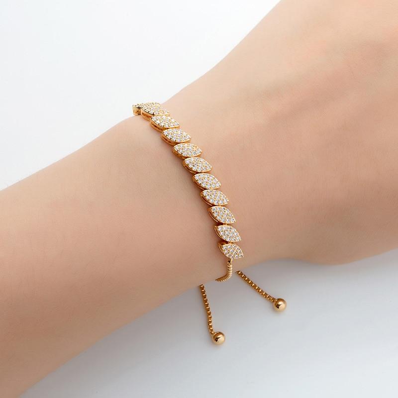 Jewelry Sets HADIYANA Simple Atmospheric High Quality Eye Leaf Shape Zirconia New Fashion Party Gift TZ8055 Conjunto de joyas
