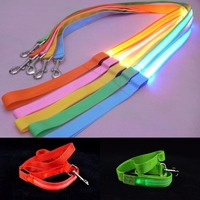 Glowing Pet Dog Lead Leash Night Safety Flashing Dogs Cat Collars Leads Dog Chain Led Light
