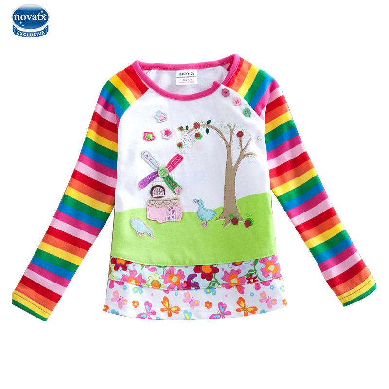 2016 Long Sleeve Children T Shirts Girl T Shirt Nova Kids