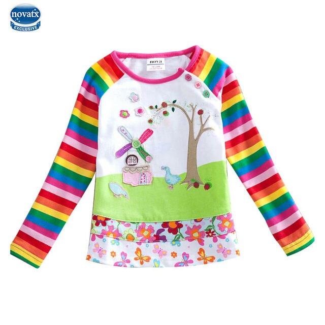 64f6c5a1 2016 long sleeve children t shirts girl t shirt nova kids brand cotton kids  t shirt for boys children boys clothing summer style