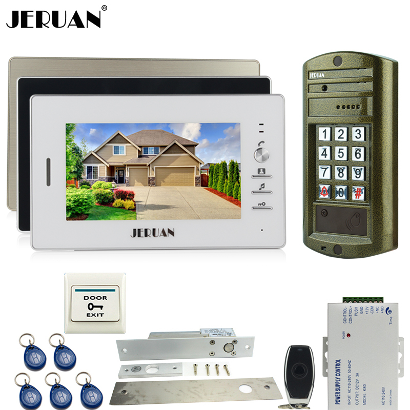 HOME 7 inch Video Door Phone Intercom System kit 3 Monitor + Metal Waterproof Access HD Mini Camera +ELectric Drop Bolt lockHOME 7 inch Video Door Phone Intercom System kit 3 Monitor + Metal Waterproof Access HD Mini Camera +ELectric Drop Bolt lock