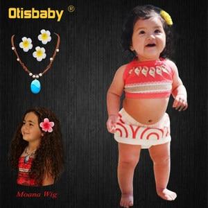 Summer Holiday Girl Baby Princess Clothing Set Birthday Infant Backless Moana Dress 1 2 3 4 5 Years Kids Fancy Fairy Beachwear(China)