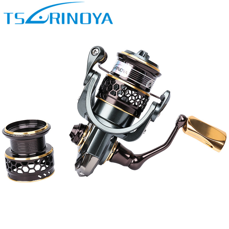 Tsurinoya Jaguar1000 2000 3000 Spinning Fishing Reel Double Spools Lure Wheel Moulinet Peche Carretilhas De Pescaria Carp Coil baitcasting fishing reel 14bb 7 0 1 right left hand bait casting spinning lure wheel carp moulinet peche carretilhas de pescaria