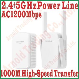 Image 1 - 2.4GHz + 5GHz Daul Band WiFi Power Line KIT Wireless PowerLine Adapter Network Extender WiFi Hotspot 1200mbps 11AC WiFi Repeater