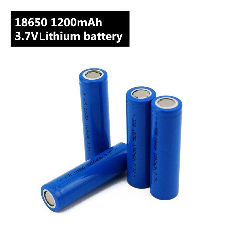 Image 3 - Flashlight 18650 Battery 3.7 V 1200mah Li ion Rechargeable battery for Power Bank/e Bike 18650 Batteries pack (1pc)-in Rechargeable Batteries from Consumer Electronics
