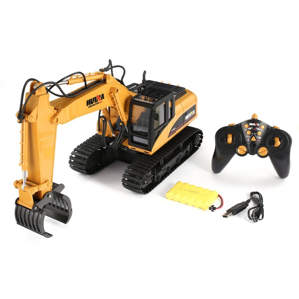 HUINA 1570 16ch RC Timber Metal Grab Wood 1/14 2.4G Engineering Crawler Truck Toy RTR Car Construction Vehicle With Light