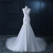 YuanDingYiSha V-Neck Mermaid Wedding Dress Backless