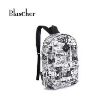 New 2017 Casual Canvas Travel Backpack Fashion School Bags For Girls Boys Plaid Printing Backpack Shoulder