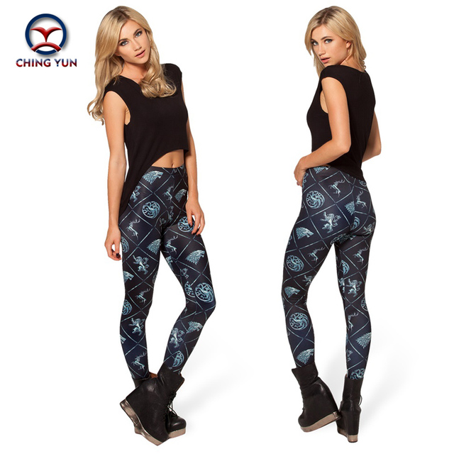 2016 women leggings hot sale black animals printing free size high elastic Ladies leisure casual Leggings woman pencil pants