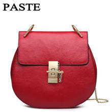 Women Small Bags Genuine leather Cowhide Shoulder Bag designer Brand Candy Color Chain Bags blue/red/black/pink/orange 5p0365