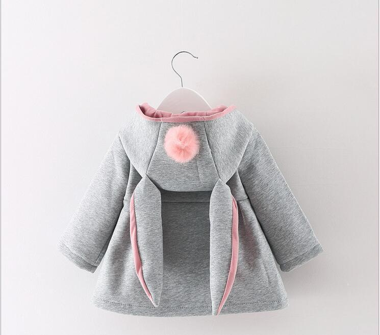 0-3 year old cute fashion girl winter thick warm coat coat + free gift