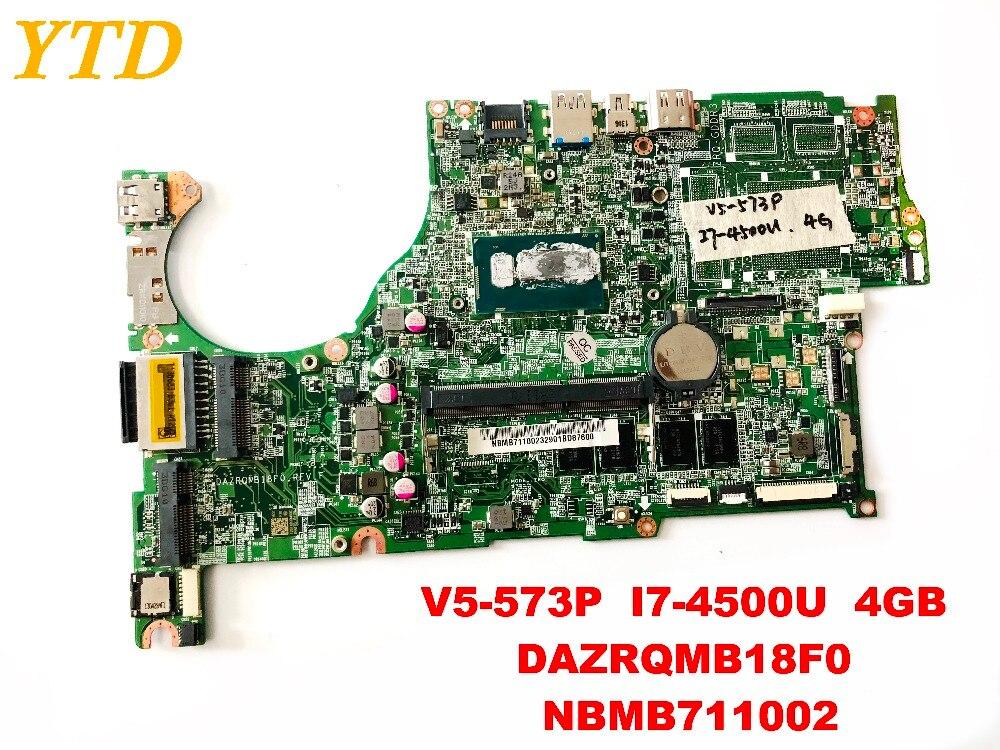 Original for font b ACER b font V5 573P laptop motherboard V5 573P I7 4500U 4GB