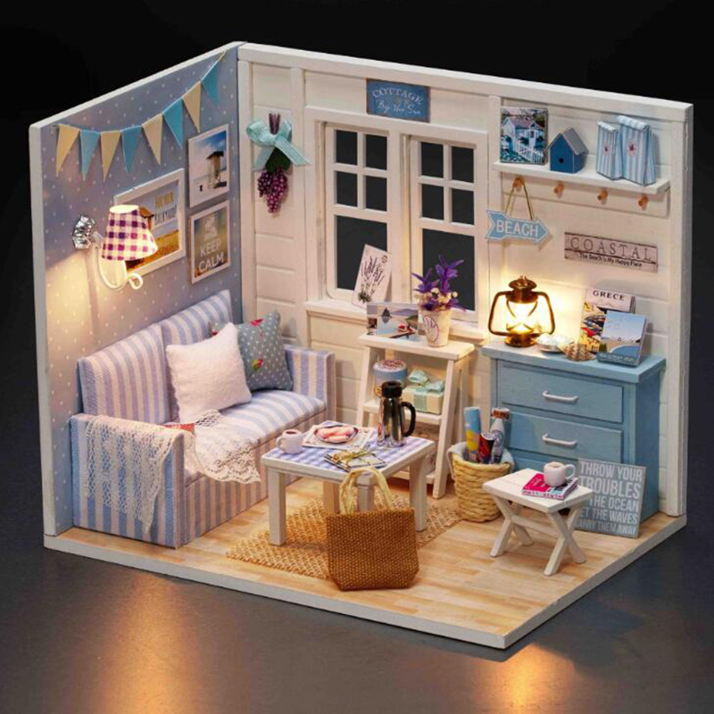 Hot Sale Diy Doll House Casa Miniature Room Box Wodden Miniatura