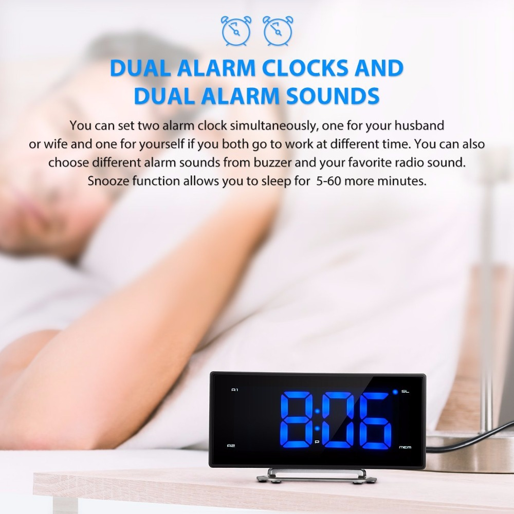 Beeper Alarm Clock Circuit With Radio Detail Feedback Questions About Mirror Fm Led Sl1280 71ptywhfltl