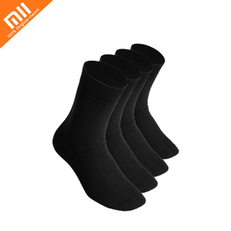 4 Pcs/set Xiaomi 365WEAR Spring And Summer Winter Section Gentleman's Socks Black Antibacterial Pre-odor, Moisture Wicking Sock