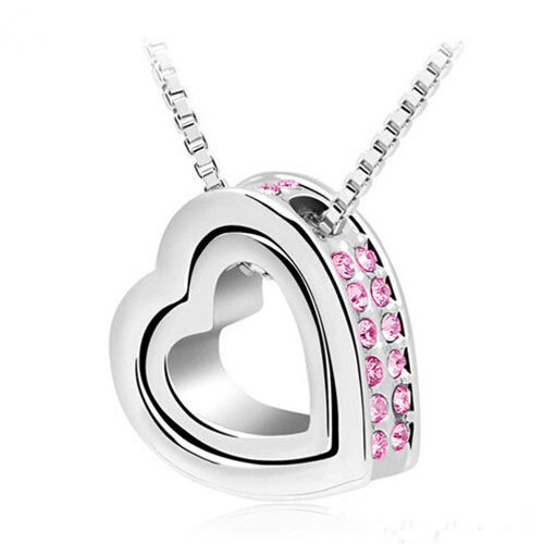 H:HYDE Heart Necklaces Pendants Best Seller Silver Color Jewelery From India Nickel Free Fashion