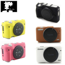 Silicone Armor Skin Case Body Cover Protector for Canon EOS M100 M10 M6 M3 Body Camera ONLY