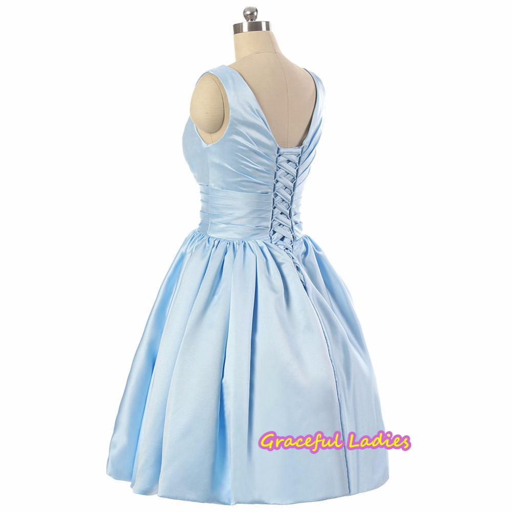 50 style bridesmaid dresses images braidsmaid dress cocktail 50s style bridesmaid dress images braidsmaid dress cocktail aliexpress buy blue knee length bridesmaid dress v ombrellifo Gallery