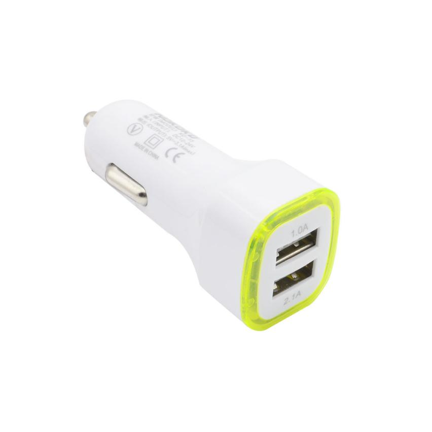 Auto car-styling 3.1A LED USB Dual 2 Port Adapter Socket Car Charger For iPhone/Samsung/HTC 2018 hot Aux Auto car-styling