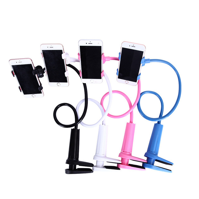 Universal Phone Stand 360 Rotating Flexible Long Arm lazy Holder Clamp Bed Desktop Car Selfie Mount Support For iphone Samsung