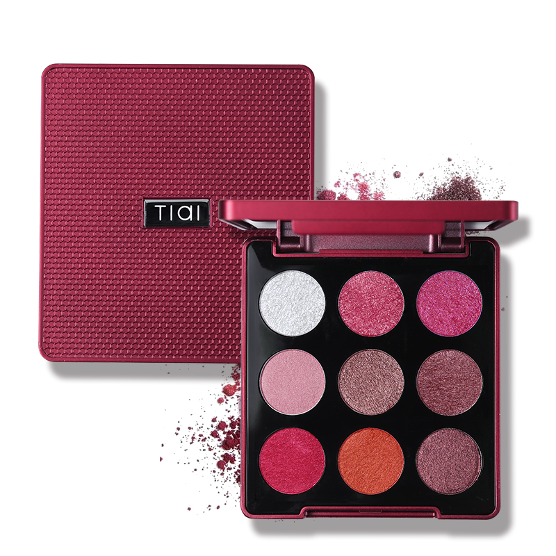 TIAI 9 Color Glitter Stain Eyeshadow Palette Creamy