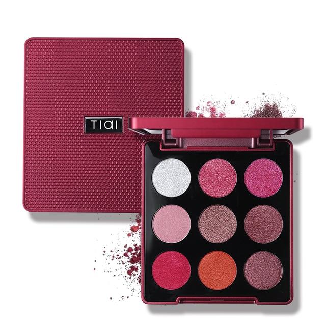 TIAI 9 Color Glitter Stain Eyeshadow Palette Creamy