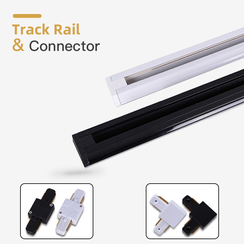 2pcs/Lot Led Track Lights Spot Led Rail Straight/Corner Connector Lighting Fixtures 2-wire Rail For LED Track Lamps Spotlights