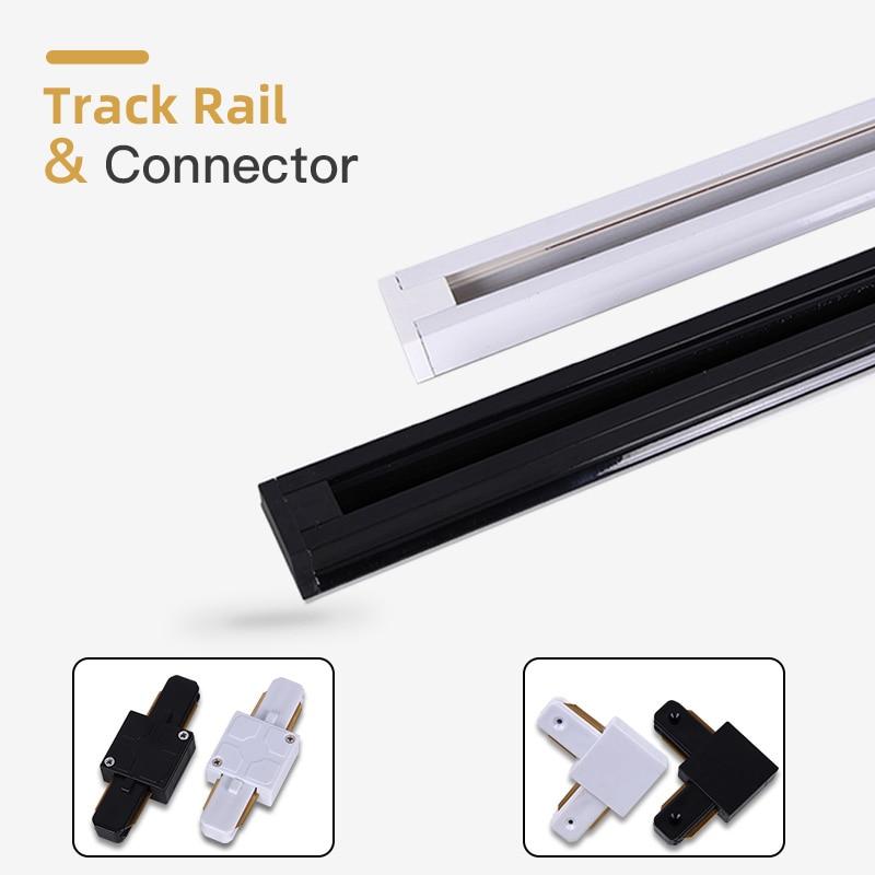 2pcs/Lot Led Track Lights Spot Led Rail Straight/Corner Connector Lighting Fixtures 2-wire Rail For LED Track Lamps Spotlights