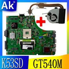 AK K53SD материнская плата для ноутбука ASUS K53SD X53S A53S Тесты материнская плата K53SD материнская плата Тесты 100% ok GT610M/2G REV 5,1 HM65
