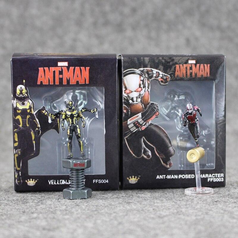 2Styles Super Hero Ant-Man Ant Man Hank Pym Wasp PVC Action Figure Toys Collection Model for Kids 6.5cm игрушка anti petank 2 игрока ant 16