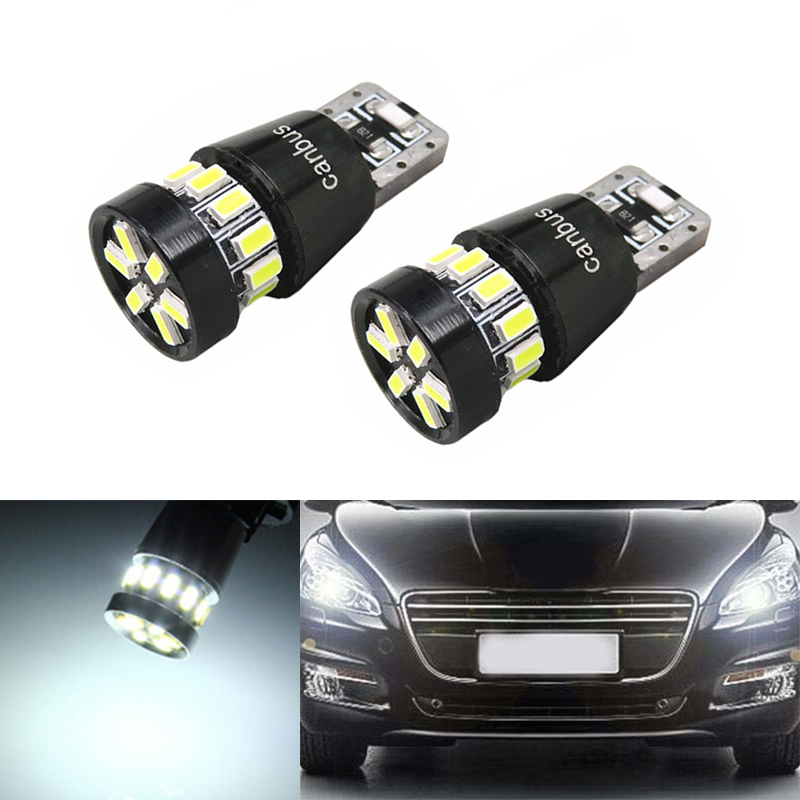 2x T10 LED W5W LED Car LED 12V Auto <font><b>Lamp</b></font> Clearance Light Parking For <font><b>Peugeot</b></font> 307 206 <font><b>301</b></font> 207 2008 508 <font><b>301</b></font> 3008 406 507 208 image