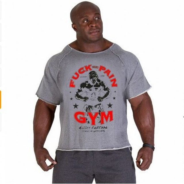 4dae6b45acc1f Summer mens Brand clothing Men s T Shirts Golds Fitness Men Bodybuilding  Gorilla Wear Shirt Batwing Sleeve