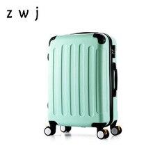Дешевые новые модные корейские ABS+ PC Сумки на колёсиках тележка для мужчин Дорожная сумка 20 дюймов посадочная коробка женские чемоданы