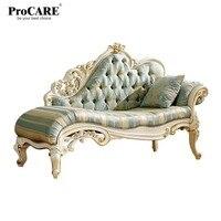 Роскошный европейский и американский стиль мебель новый стиль ткань Королевский диван с золотой резьбой из Китая