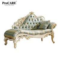 luxury European and American style furniture new style fabric royal sofa with gold carving from China