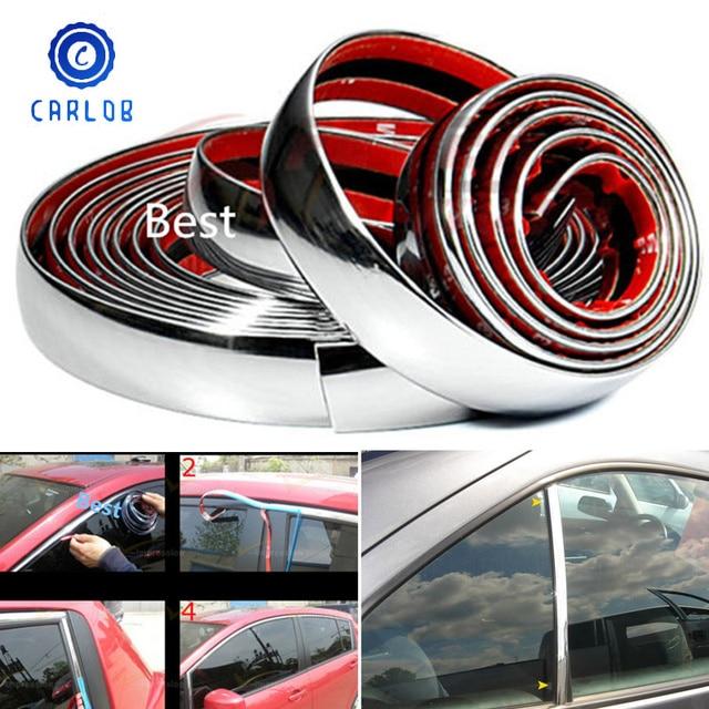 CARLOB bande de garniture autocollant pour décoration chromée de voiture, 5M, bricolage, 8mm / 10mm / 15mm / 20mm / 22mm / 25mm / 30mm