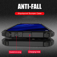 Luxury Armor Shockproof Case On The For Xiaomi Redmi 7 8A Note 8T 7 Pro 5 Plus Soft Case Cover For Xiaomi Pocophone F1 Back Case(China)