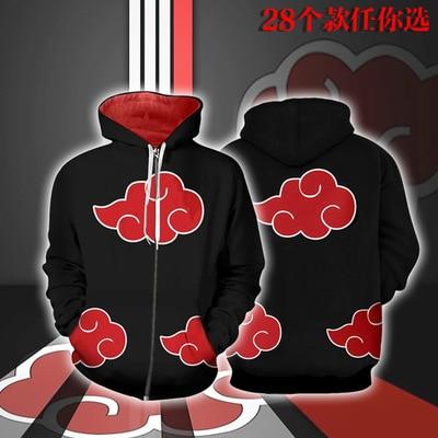 anime Naruto Uzumaki Hatake Kakashi Uchiha Sasuke Hoodies Sweatshirts Sweater hoodie Casual jacket halloween costume