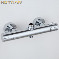 Free Shipping Smart Shower Faucet Bathroom Thermostatic Faucet Chrome Finish Mixer Tap Wall Thermostatic Mixer Valve