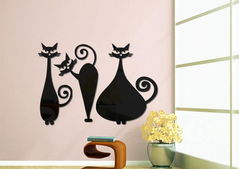Túnel Plug gato Cat negro sonrisa sonrisa dientes 4mm hasta 16mm cómic Gothic