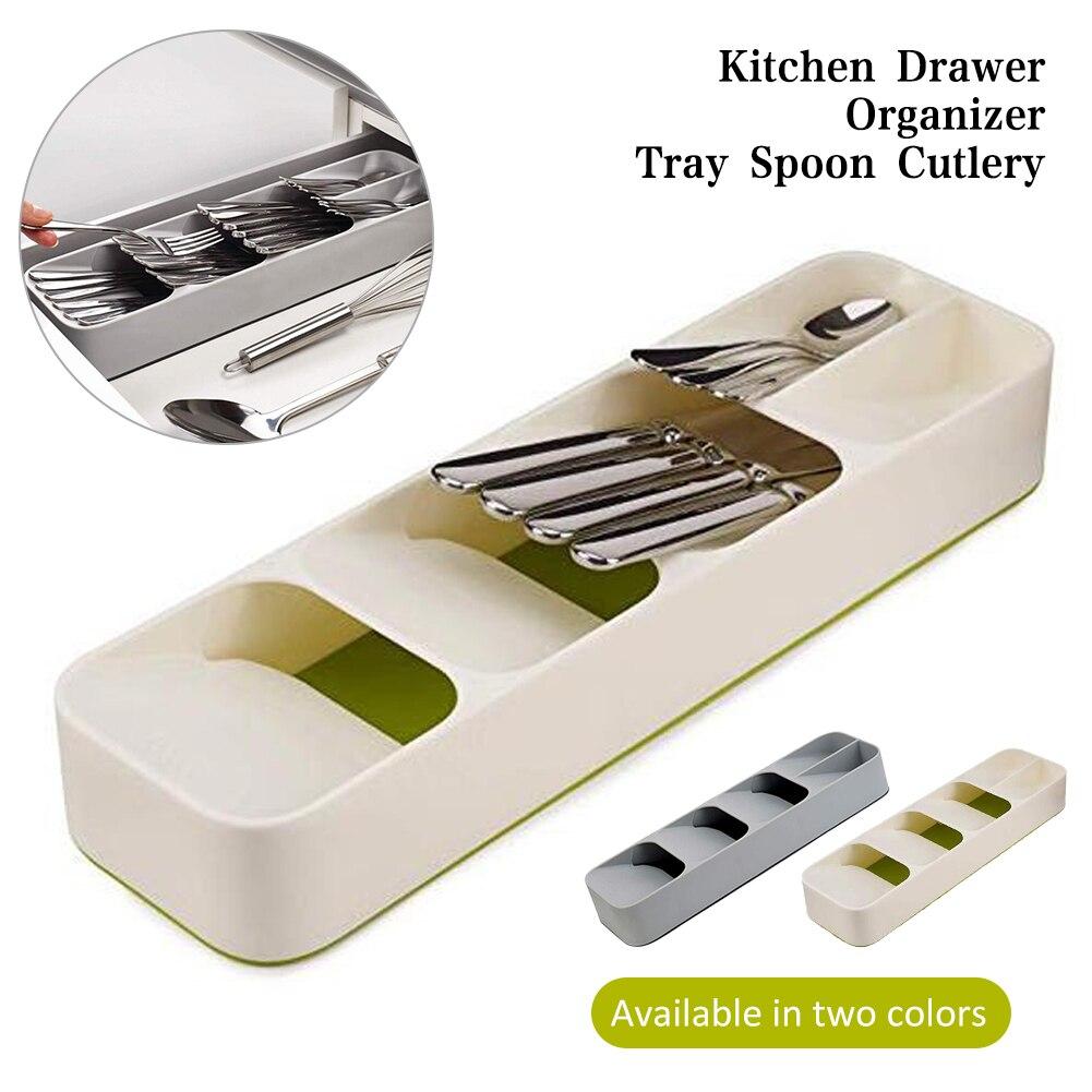 Nouveau tiroir de cuisine organisateur plateau Rack cuillère fourchette couverts séparation boîte de rangement gain de place maison cuisine Gadgets organisateur