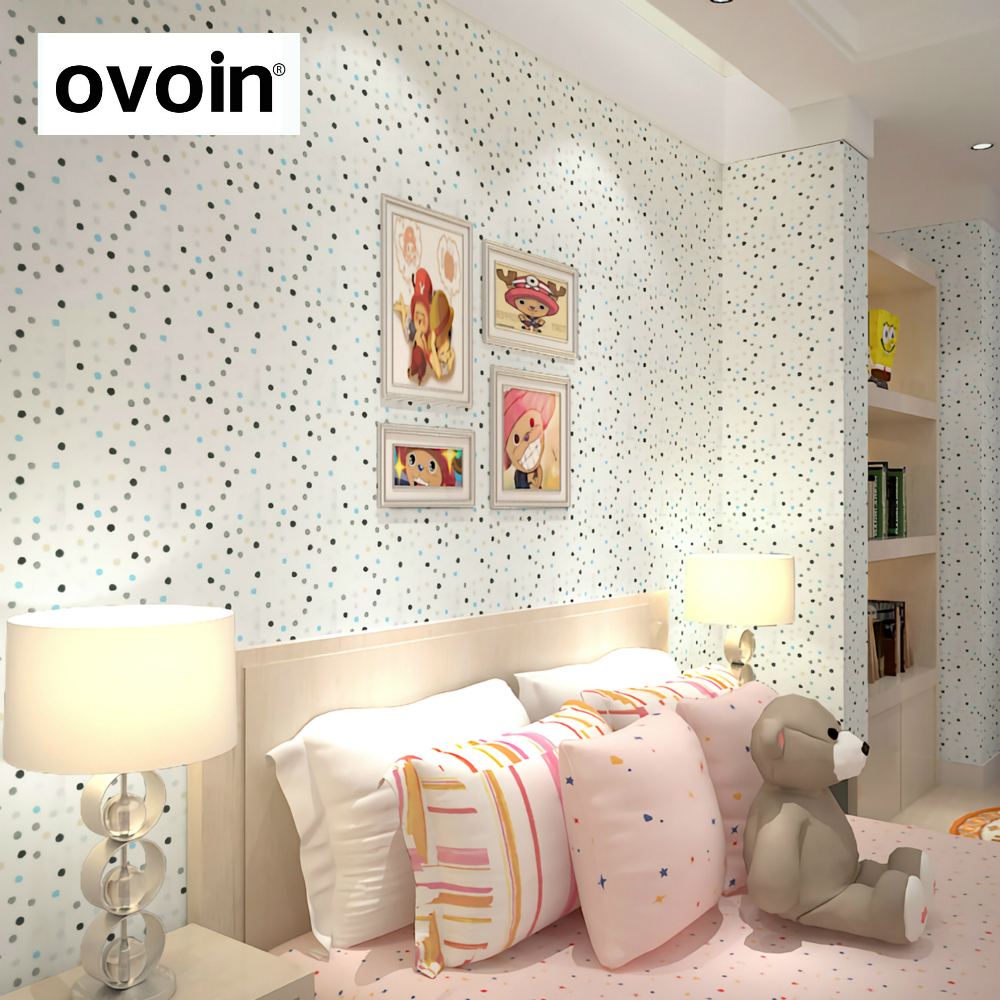 color polka dots children wallpaper girls bedroom wall paper roll