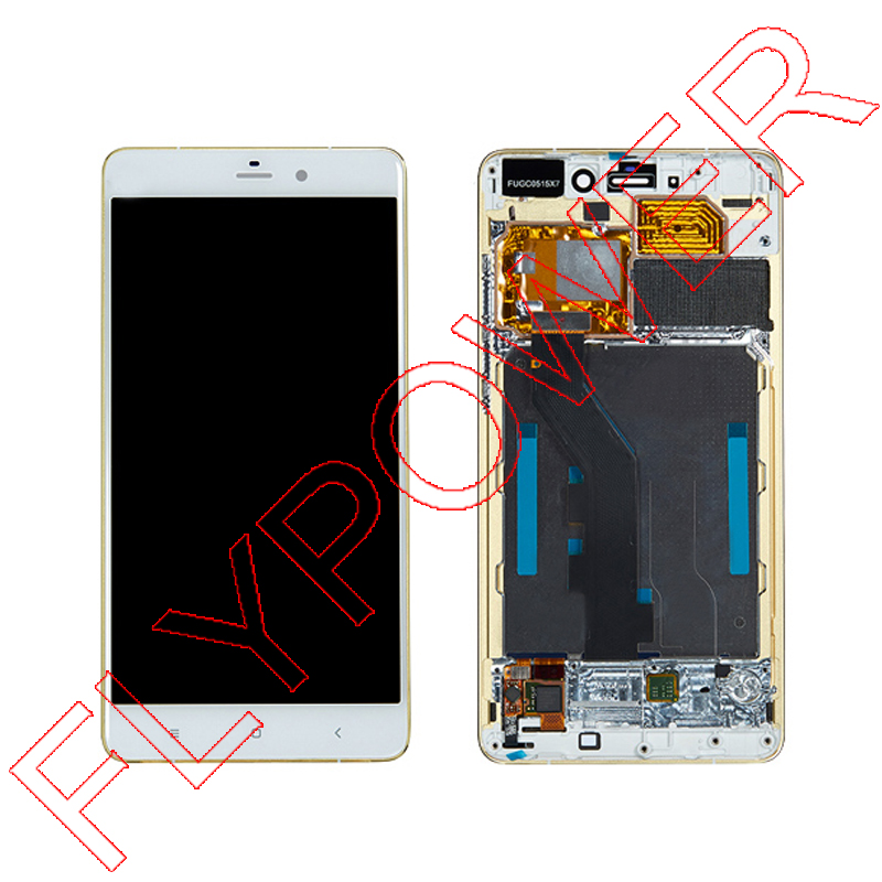 цена  For XiaoMi NOTE FHD 5.7 inch 2560X1440 LCD Display +Digitizer touch Screen with GOLD Frame Assembly White by Free Shipping  онлайн в 2017 году