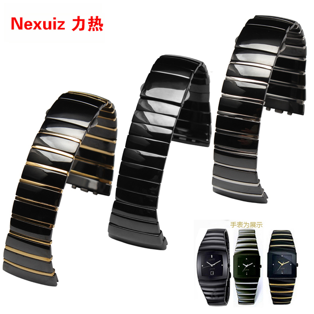 Watchbands , 26MM Ceramic watch strap bracelet men and women fashion  watchbands for Sintra  promotion
