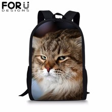 Cute Cat School Bag Children Customize Printing Backpack Female Women School Bag For Kids Boys Girls Teenagers Bookbag Bagpack недорого